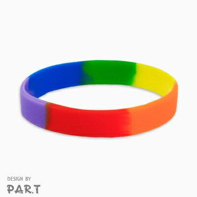 (PAR.T)彩虹商品-六彩矽膠手環