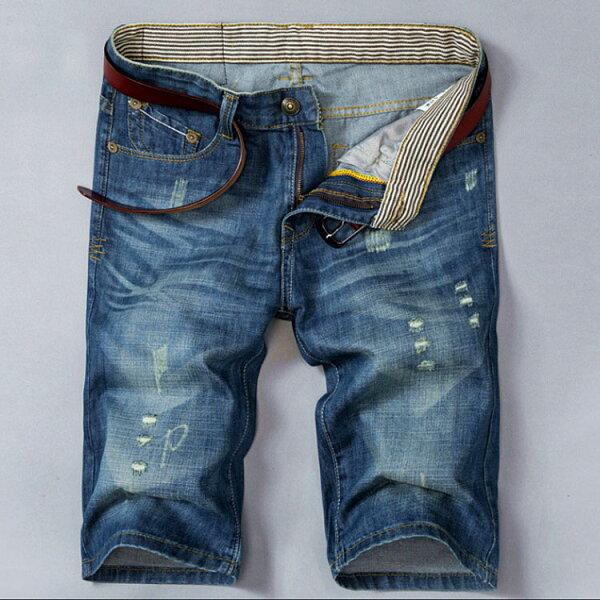 經典潮流日系破洞風格百搭休閒牛仔褲