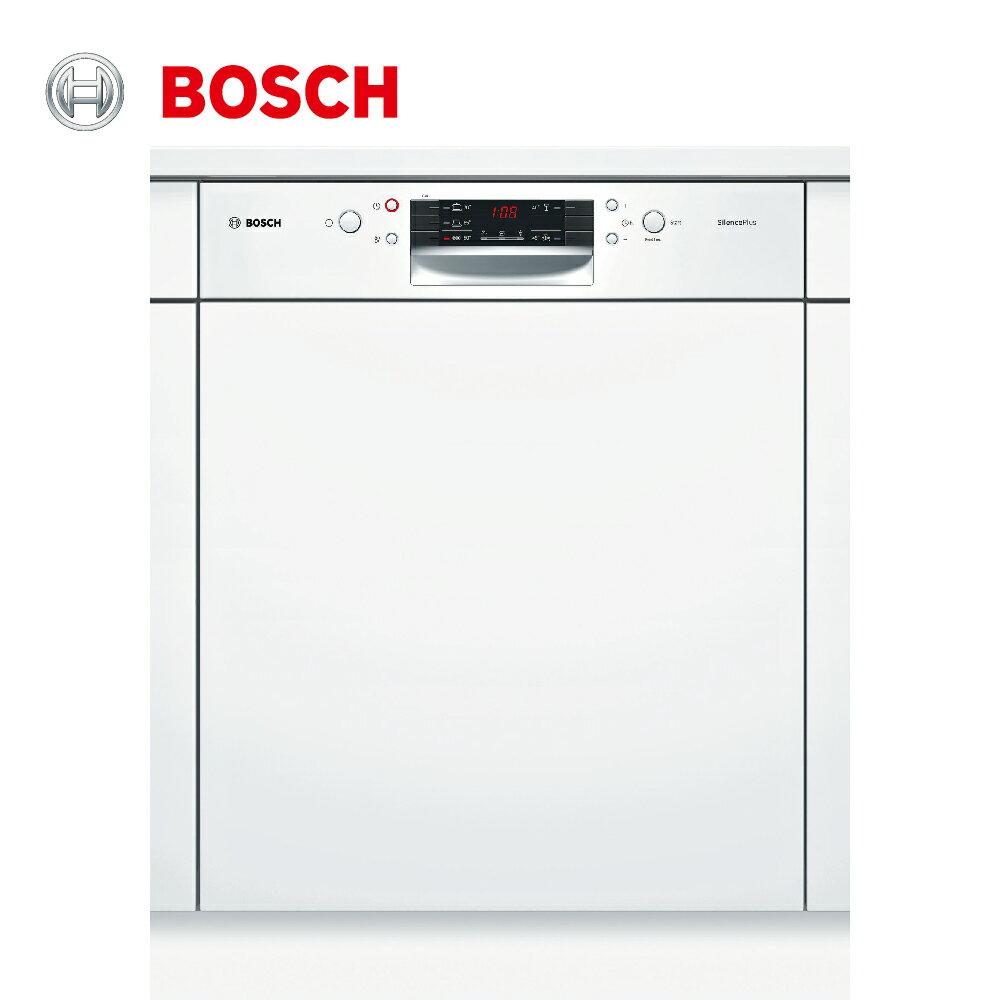 ★贈基本安裝【BOSCH博世】60cm 13人份110V半崁式洗碗機(SMI45IW00X)