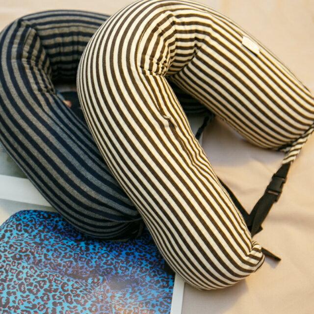 無印風格 線條頸枕(微粒) 紓壓/休息 便利實用 2色可選 9