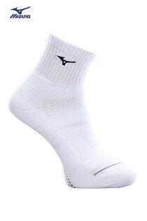 MIZUNO美津濃加大尺寸男運動厚底短襪(白黑)運動襪32TX800209【胖媛的店】