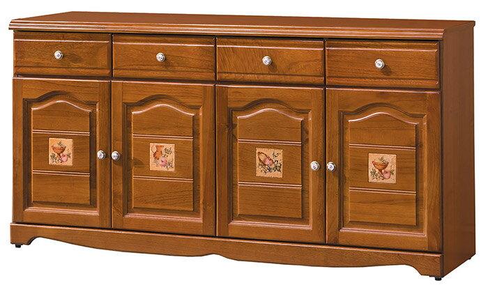 ~尚品傢俱~HY~B404~06 愛莉森鄉村瓷磚5.3尺餐櫃下座