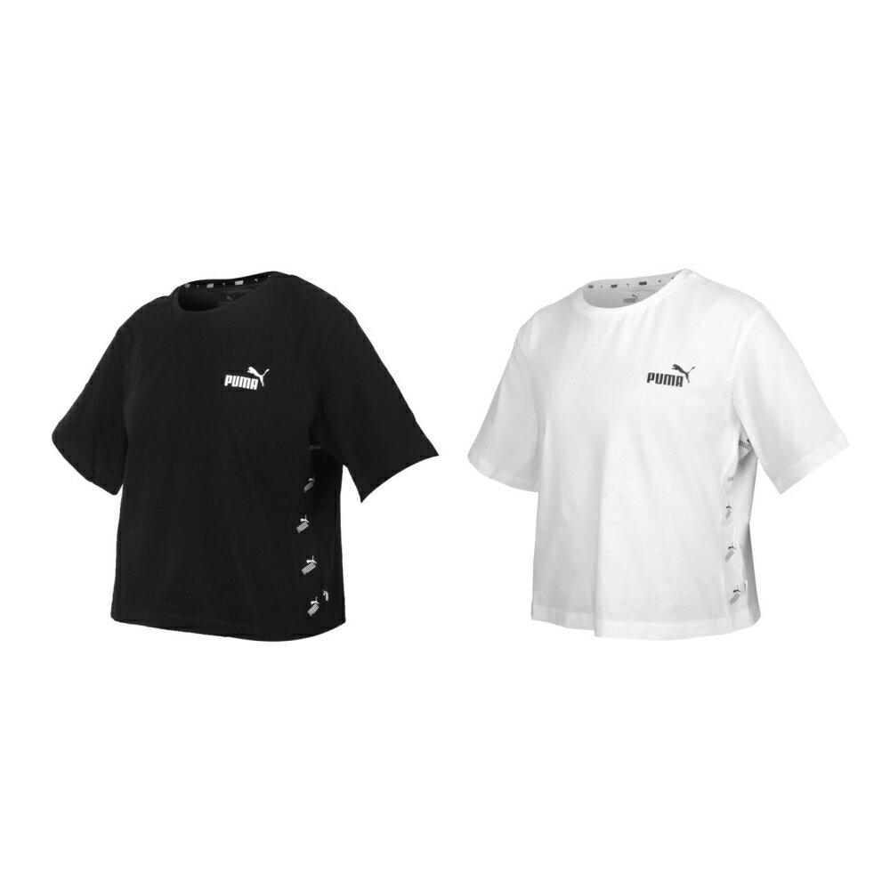 PUMA 女基本系列短版短袖T恤(純棉 休閒上衣 慢跑 路跑 亞規【586597】≡排汗專家≡
