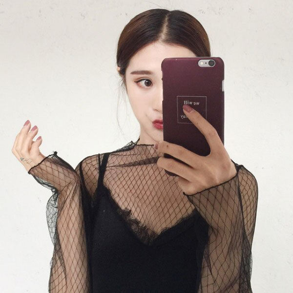格紋 網格 鏤空 網洞 網紗 透視 透膚 性感 蕾絲 透明 打底衫 小可愛 比基尼 魚網