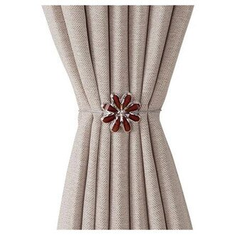 磁鐵式窗簾束帶FLOWER2 BR