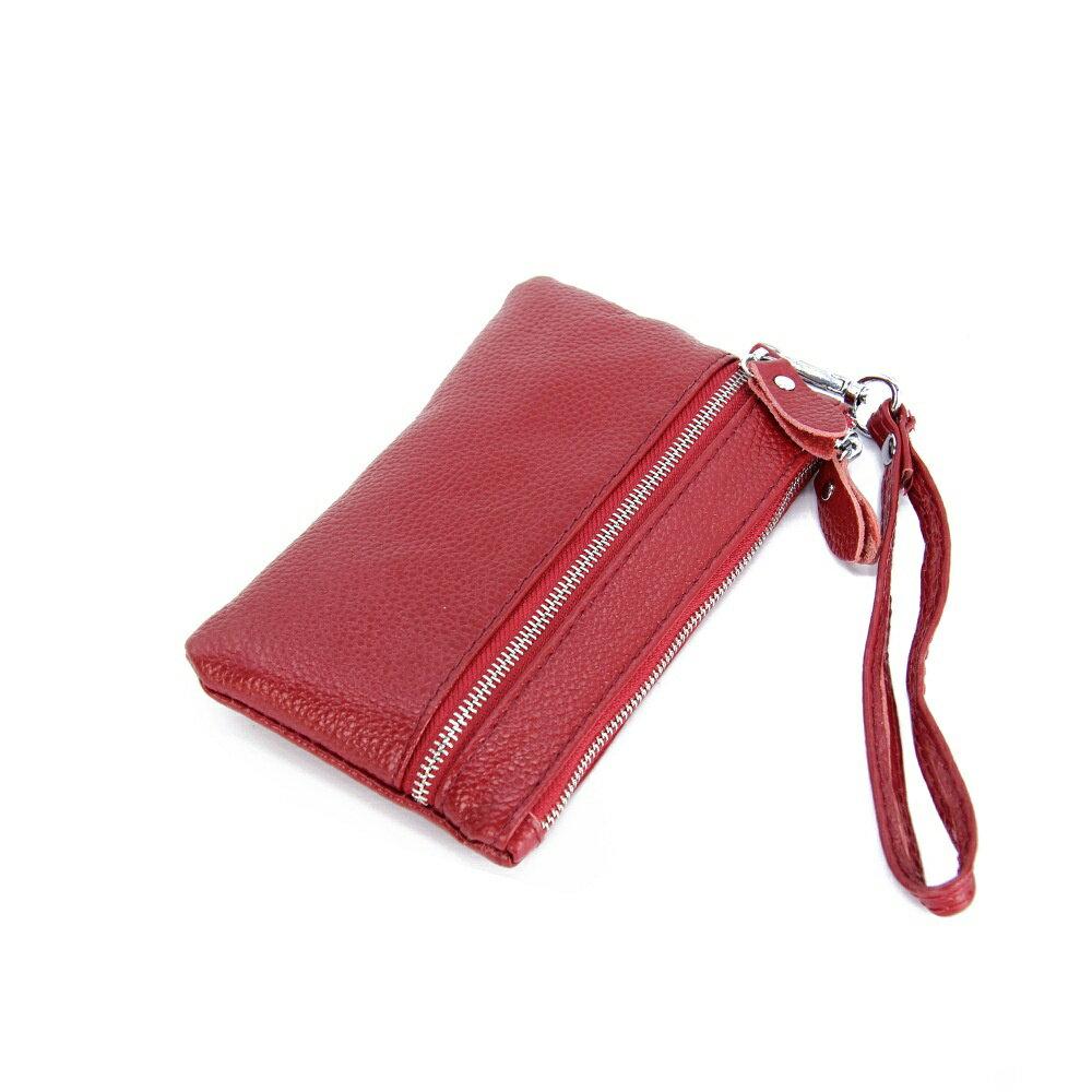 手拿包真皮錢包-純色荔枝紋牛皮雙拉鍊女包包5色73wz33【獨家進口】【米蘭精品】 0