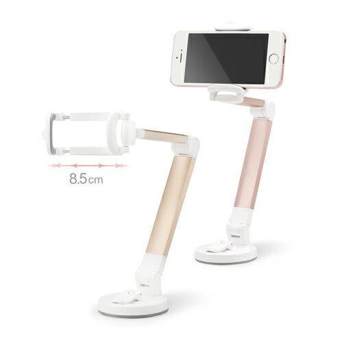 E-books N52 鋁合金360度美型折疊手機支架 金 E-IPB136GD 三段折疊 鋁合金支架 黏膠設計【迪特軍】 2