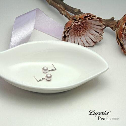 大東山珠寶 星河 日本AKOYA天然海水珍珠純銀耳環 短版 2