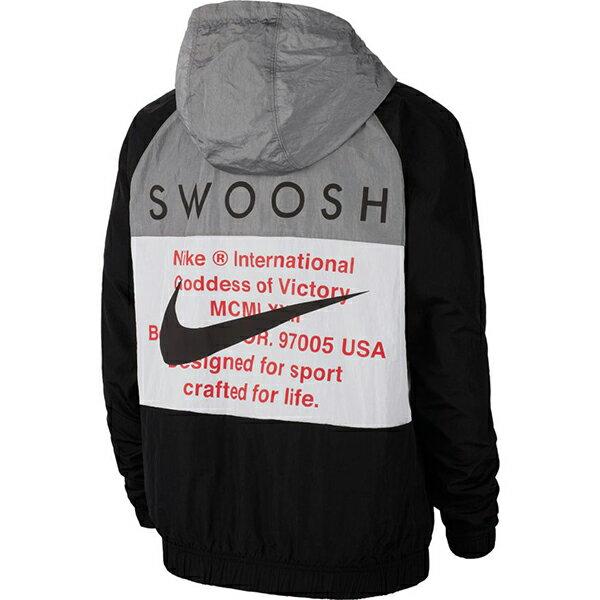 【NIKE】M NSW SWOOSH JKT HD WVN 男裝 連帽 休閒 雙勾 黑 外套 -CJ4889011 2