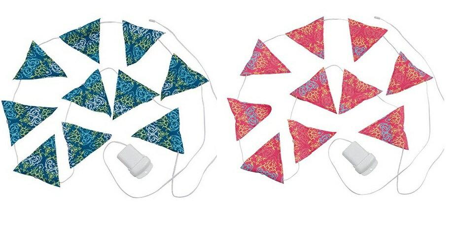 【露營趣】中和安坑 Coleman CM-22287 藍色 CM-22289 粉紅 LED串燈 三角旗 氣氛燈 聖誕燈飾 裝飾燈