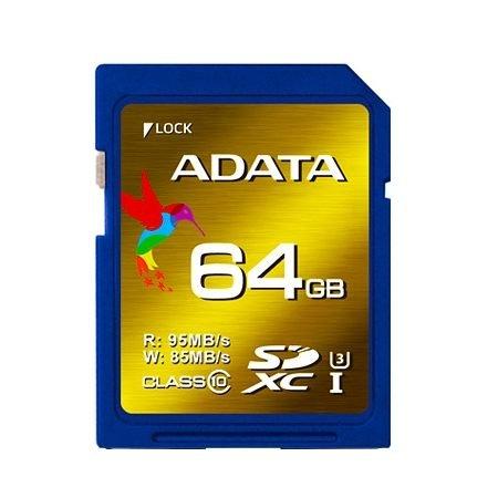 *╯新風尚潮流╭* 威剛記憶卡 XPG 64G SDXC C10 U3 讀95寫80 ASDX64GXUI3CL10-R