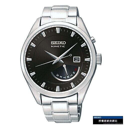 SEIKOCS典雅紳士人動電能腕錶黑SRN045P1(5M84-0AB0D)