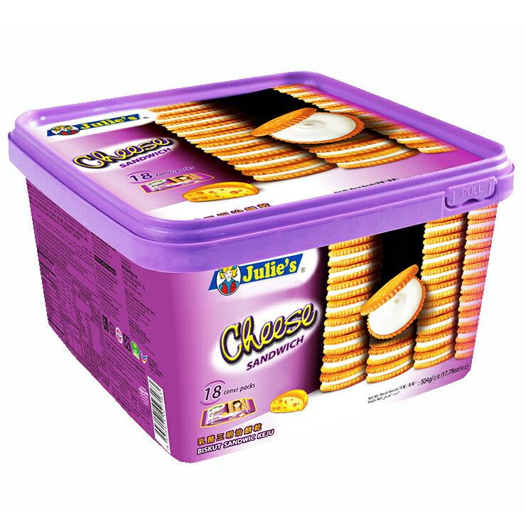 茱蒂絲乳酪三明治餅乾(塑膠桶)-504g