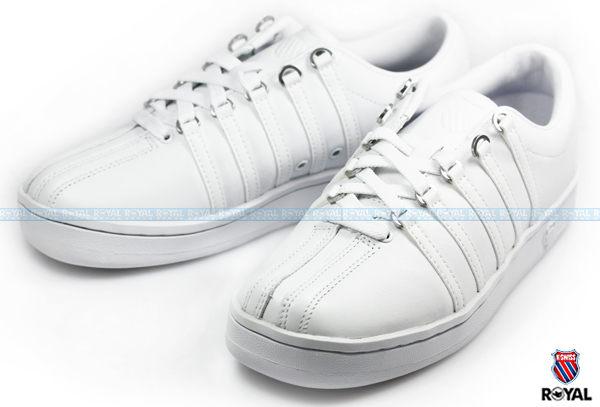 K-SWISS 新竹皇家 THE CLASSIC 白色 輕量 復古 網球鞋 男女款 NO.A0568-I3837
