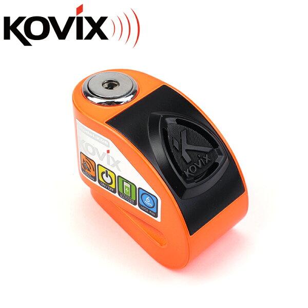 KOVIXKD6警報碟煞鎖螢光橘送原廠收納袋+提醒繩德國鎖心警報碟煞鎖重機可用機車鎖☆鑫晨汽車百貨☆