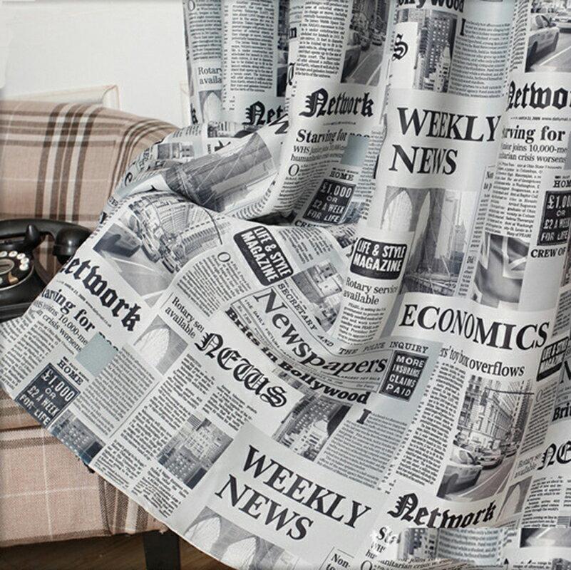 +英文報紙樣 NewPaper窗簾【寬150*高240cm】原創設計遮光防曬+