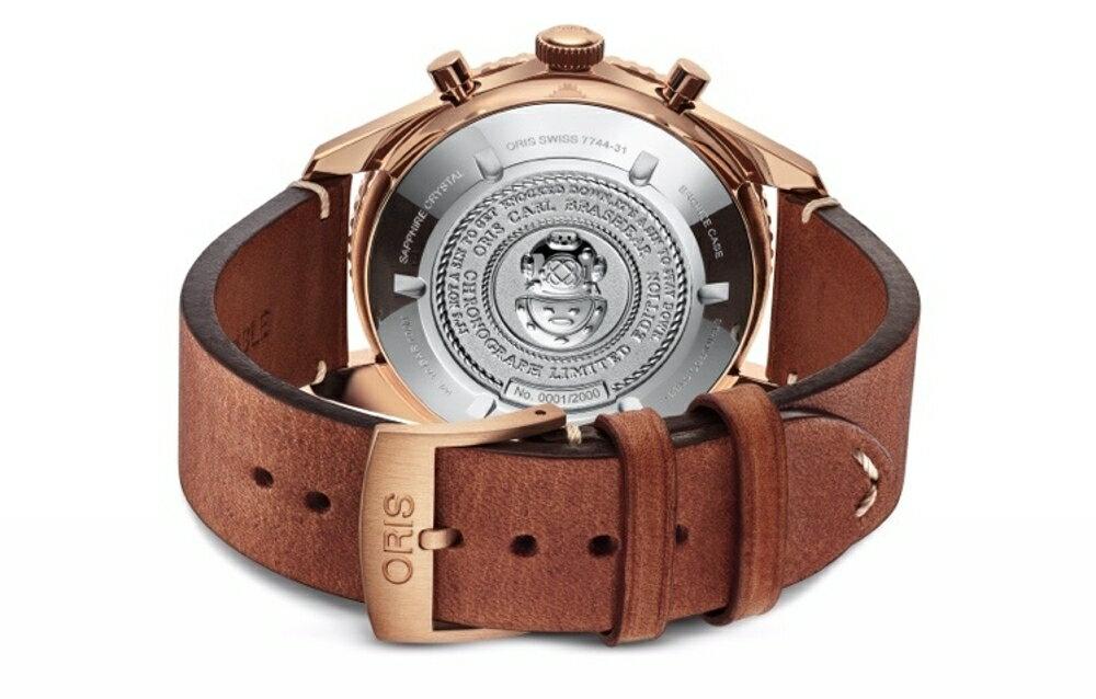 Oris  Carl Brashear 限量青銅計時機械錶(0177177443185-SetLS)43mm