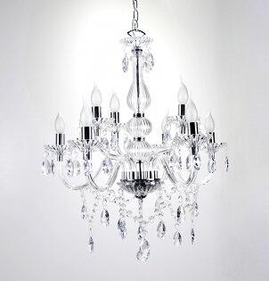 透明古典式8燈雙層式燭光吊燈-BNL00095