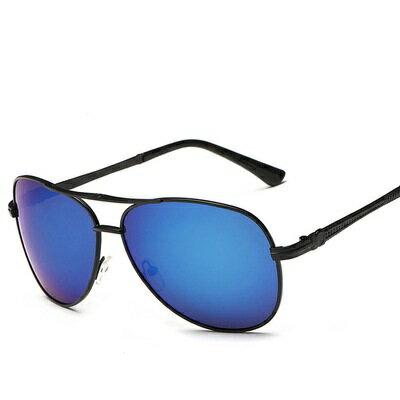 太陽眼鏡偏光墨鏡~金屬框架炫彩反光男女眼鏡 8色73en8~ ~~米蘭 ~