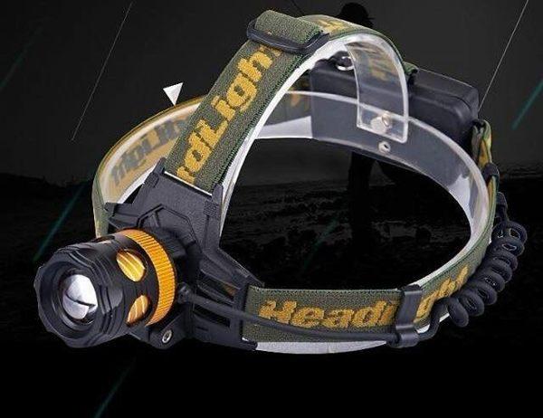 超亮 L2頭燈 全配變焦頭燈 LED戶外強光充電釣魚頭燈非T6 U2