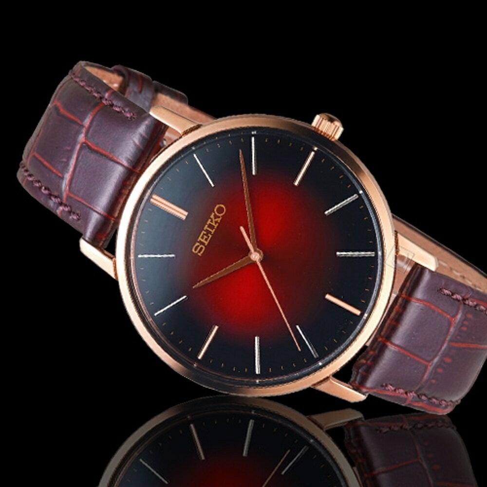 SEIKO精工SPIRIT極簡漸層時尚腕錶 7N01-0JR0R SCXP130J 紅