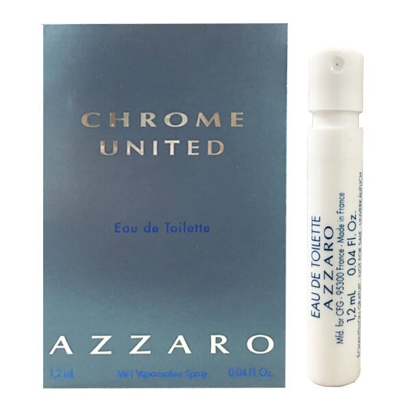 AZZARO Chrome United 酷藍唯我男性淡香水 1.2ml 針管《Belle倍莉小舖》