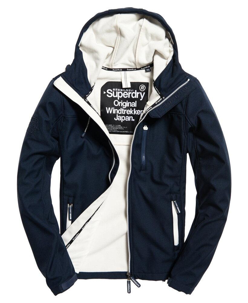 極度乾燥 Superdry SD-Windtrekker 連帽防風夾克 防風機能外套 薄款 藏青色/亞麻色