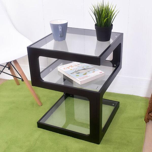 凱堡傢俬生活館:凱堡幾何無違和三層玻璃邊桌茶几【P06042】