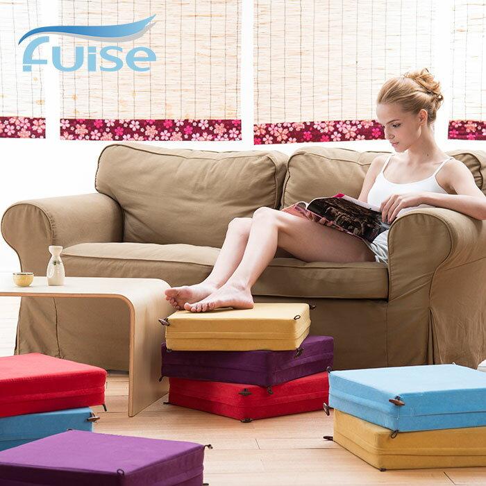 [Fuise芙依絲] 四摺方型椅 (五色) 坐墊 和室墊 榻榻米墊 組合桌椅