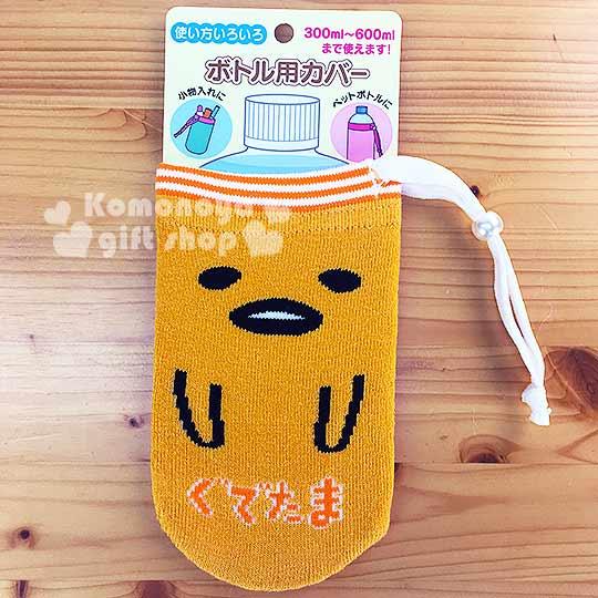 〔小禮堂〕蛋黃哥 多功能束口袋《橘黃.大臉.襪子材質》彈性伸縮