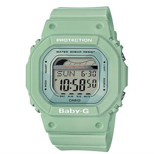 CASIO卡西歐BABY-GBLX-560-3夏季海灘復古滑板潮汐數位腕錶