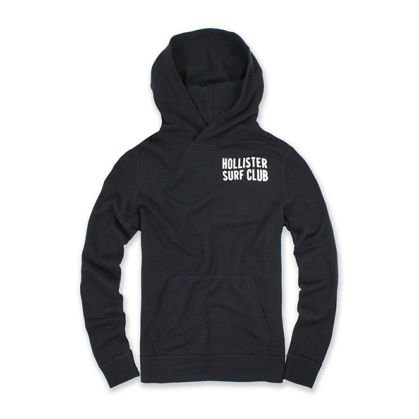 美國百分百【全新真品】Hollister Co. T恤 HCO 長袖 T-shirt 海鷗 連帽 M號 深藍 E279