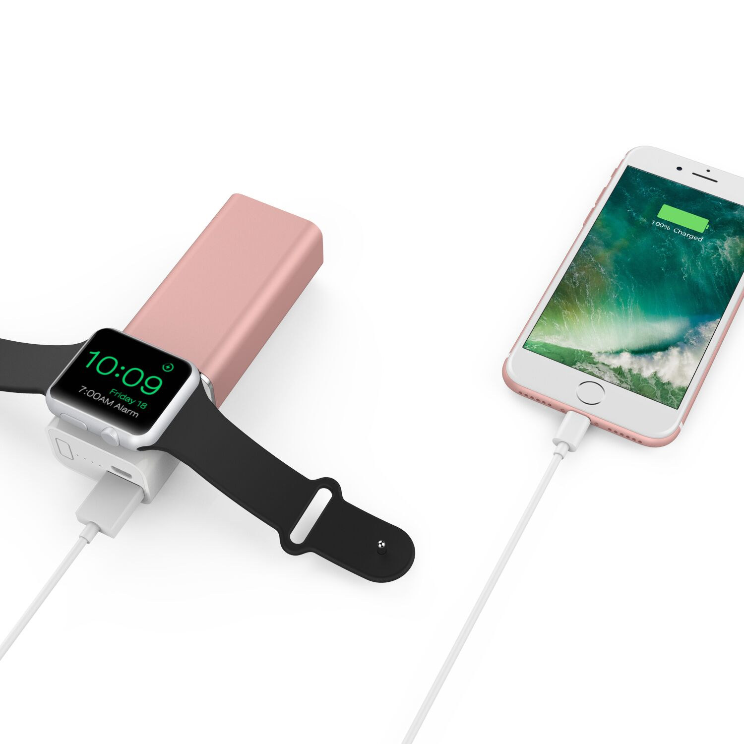 Element Works Dual USB Portable Charger And External Battery Pack for Apple Watch, iPhone, and Other Smartphones-Apple MFI Certified 0