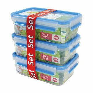 德國EMSA愛慕莎~3D保鮮盒1.0L三件組 #514584