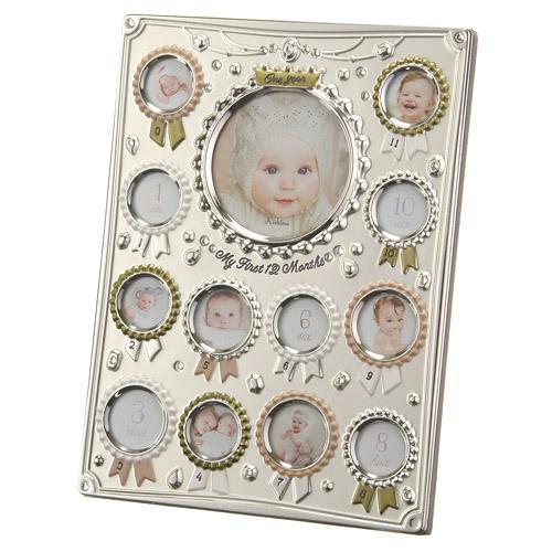 【百倉日本舖】日本進口 優雅水鑽寶寶相框/寶寶12個月相框