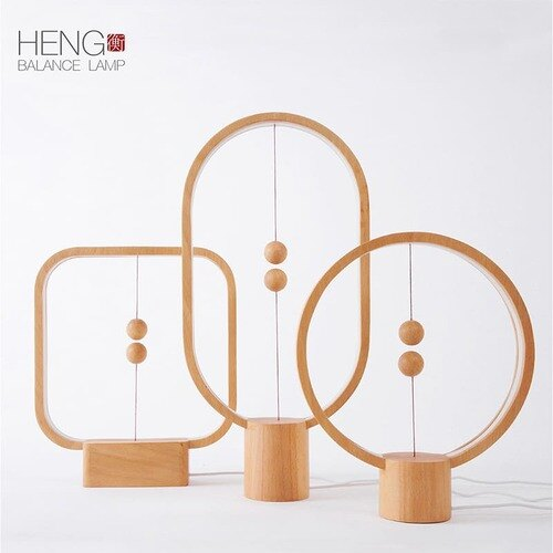 荷蘭 allocacoc Heng衡 LED燈 / 櫸木 / 深色圓形 1