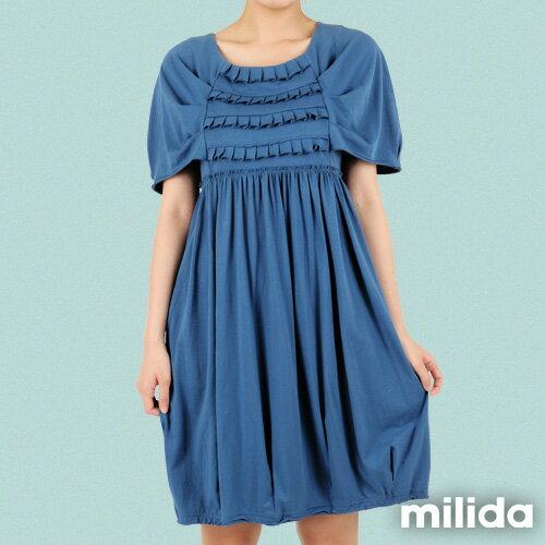 【Milida,全店七折免運】-春夏商品-甜美款-公主袖洋裝 1