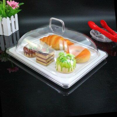 仿瓷密胺試吃盤帶蓋方形 下午茶點心架 麵包甜品水果盤蛋糕託盤 艾琴海小屋