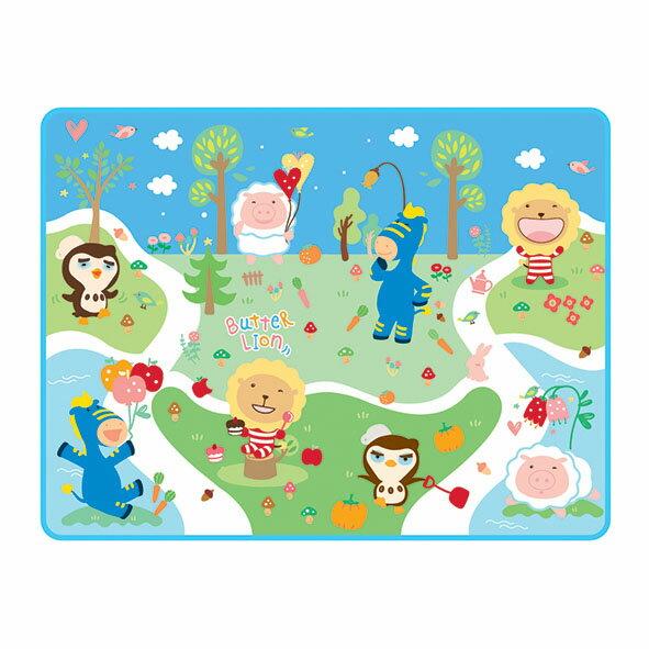 奶油獅 爬爬樂-折疊式軟性安全遊戲墊 藍色
