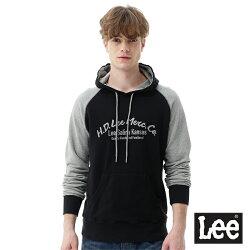 Lee HD LEE連帽厚T恤/RG-黑色-男款