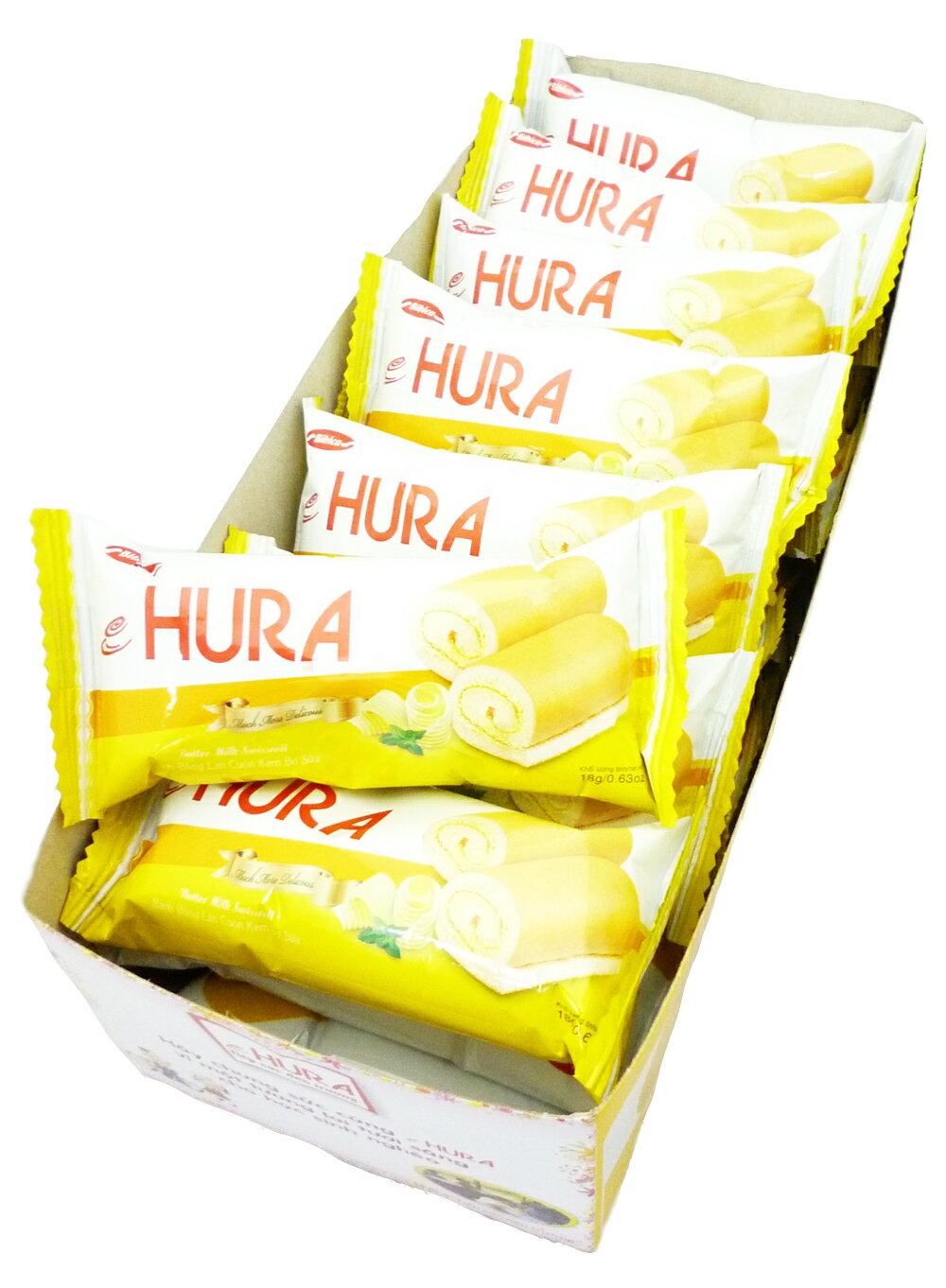 【草莓季、巧克力8折起】HURA 迷你瑞士捲(鮮奶油味) 360g整盒 (經常沒貨請先來信詢問)