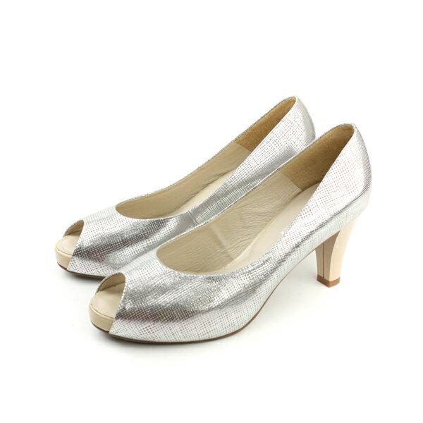 HUMAN PEACE  高跟鞋 休閒鞋 銀色 女鞋 no242