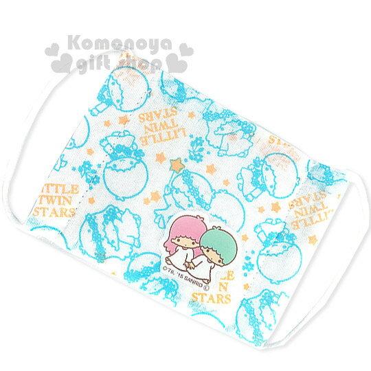 〔小禮堂〕雙子星 兒童平面紗布口罩~白.花圈.藍線條~感冒對策用品 ~  好康折扣
