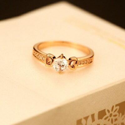 玫瑰金戒指鑲鑽銀飾-尊貴唯美時尚個性母親節生日情人節禮物女飾品73by12【獨家進口】【米蘭精品】