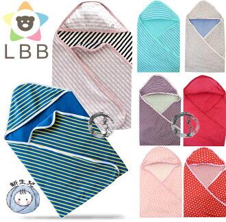 童衣圓【K021】K21雙層綿包巾 LBB 軟綿 透氣 三角帽 護頭 抱被 小被 嬰兒毯 彌月禮 壓箱