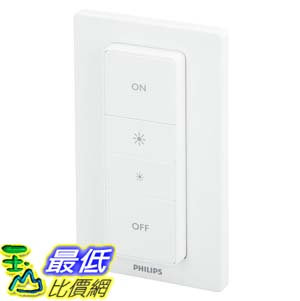 [106美國直購] Philips 473371 Hue Dimmer Switch Smart Remote Installation-Free Exclusive Lights White
