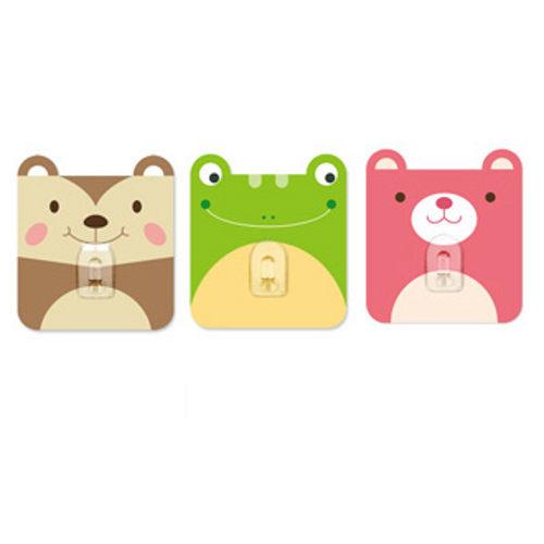 2EASY造型單掛鉤組 3入/組-方塊動物