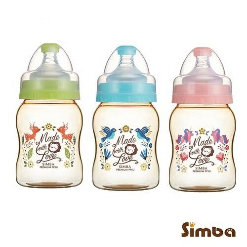 台灣【Simba小獅王】桃樂絲PPSU寬口葫蘆小奶瓶200ml(綠藍粉)