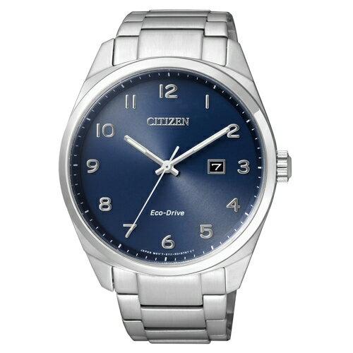 CITIZEN 風格光動能腕錶 藍面 BM7320~87L ~  好康折扣