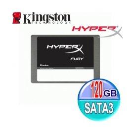 Kingston 金士頓 SSD HyperX FURY 120G【SHFS37A、7mm】2.5吋 SATA3 固態硬碟